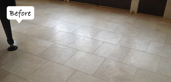 Sir Grout Central New Jersey Travertine Before Honing and Polishing