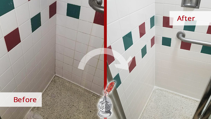 These Hospital Showers Have Been Completely Renewed Thanks To Our - Bathroom tile cleaning service