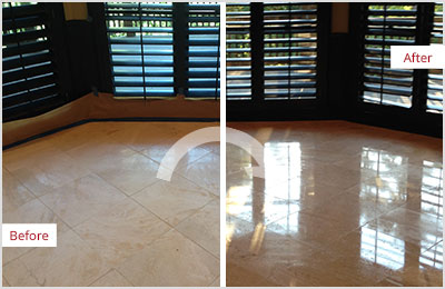 Sir Grout Central New Jersey Tan Marble Stone Honing and Polishing
