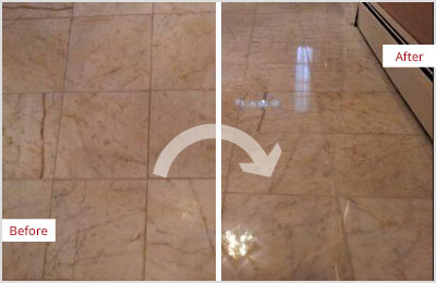 Sir Grout Central New Jersey Tan Marble Hone and Polish