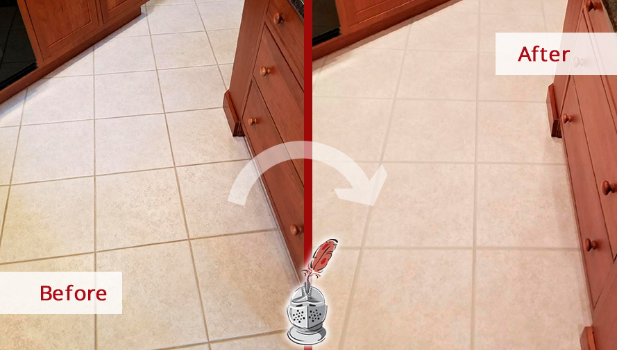 Before and After Picture of a Grout Cleaning Service in Manapalan, New Jersey