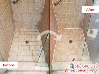 Before and after Picture of This Shower in Toms River, New Jersey